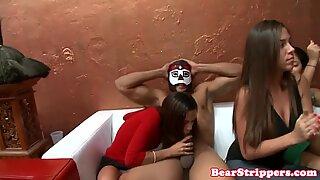 OMG my gf takes cum on face by stripper