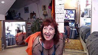 V 300 Orange skirt and stockings on my HUGE ass.. delish