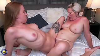 daughter-in-law learns from mommy