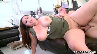 Fat and rounded slut Lexi Summers gets nailed hard doggy style