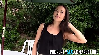 PropertySex - Hot Asian realtor homemade sex