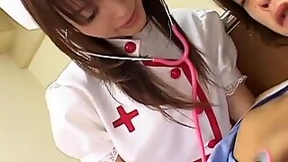 Harcore cosplay action with nurse Ai getting it hard and deep
