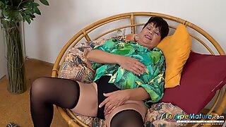 EuropeMaturE Libi Seductive Solo Striptease Video