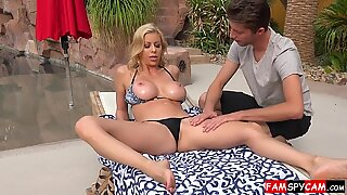 Step mom and son sex ends with creampie