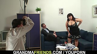 Two guys fuck big boobs chubby mommy