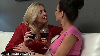 GirlfriendsFilms Busty MILFs Bathtub Sex