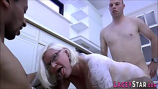 Throated granny eaten out