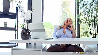 Busty lady boss Ryan hot sex with Keiran