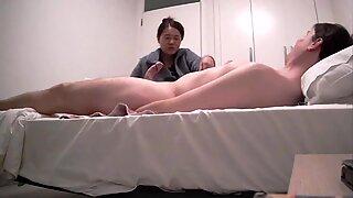 Sexy Japanese MILF Providing Handjob and Blowjob to WBC - AsianCaucasianDuo