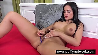 Toy Time Black Haired Babe