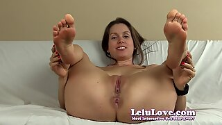 spreading my pussy and pink pucker with lots of soles and soles JOI