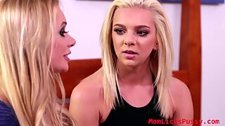Pretty Briana Banks lure her sweet and innocent teen stepdaughter Tiffany to join them