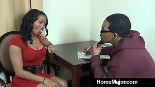 Black Mommy Fucker Rome Major Bangs Student's Mother!