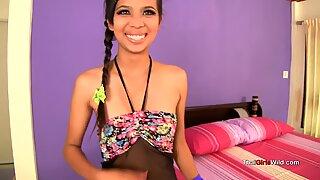 hottie Thai teen appears in her first fuckfest video