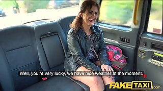 Fake Taxi Big sexy Spanish ass bounces as tight pussy fucked in cab