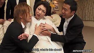 Yui Ayana gets fucked hard by many horny guys