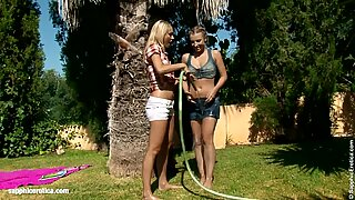 Seduced Gardener by Sapphic Erotica - lesbian love porn with Lena - Morgan