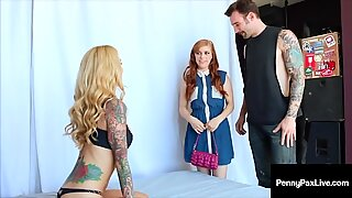 Ginger Bush Beauty Penny Pax Shares Dick with Sarah Jessie!