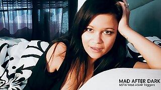 ASMR girlfriend Roleplay hj & muddy Talk in Bed