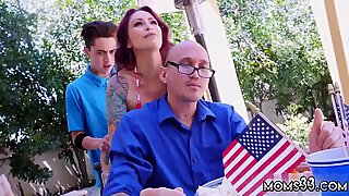 Milf sex with compeer  chum s sons and   sniffing mom Awesome 4th Of July Threesome - Aspen Reign