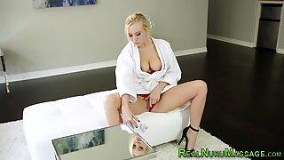 Horny masseuse rides cock