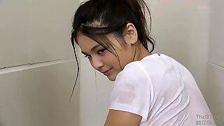 Tsubasa gets her ultra-cute yellow underpants moist