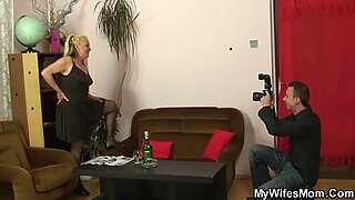 Taboo fuck with old mother-in-law
