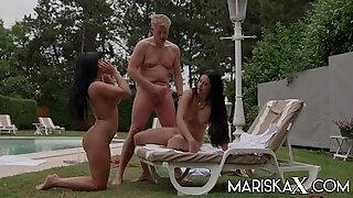 Mariska and Valentina bang their stepdad