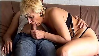 Crazy old mom gets fucked hard taking big cock blowjob