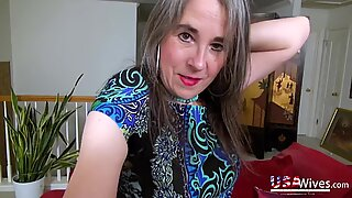 USAwives Mature Seductive Solo Play and Stripping