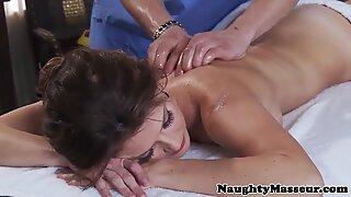 Classy milf Jenni Lee fucked by fake masseur